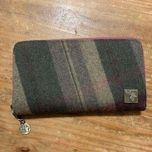 House of Tweed / NWOT Full Zip Wool Blend Purse
